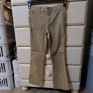 Girls size 1o bootcut khakis